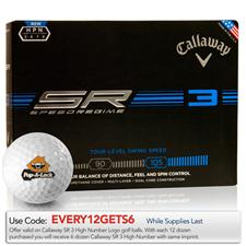 Callaway Golf Custom Logo Speed Regime 3 High Number Golf Balls