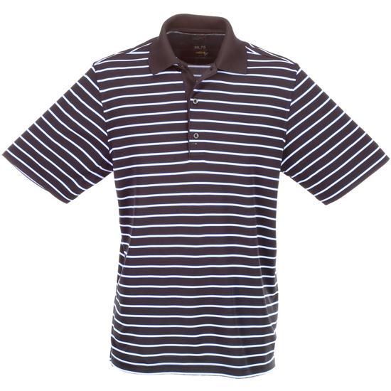 Greg Norman Men's Micro Lux Stripe Polo