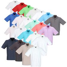 Greg Norman Custom Logo ProTek Micro Pique Stripe Polo