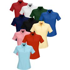 Greg Norman Custom Logo Short Sleeve Protek Micro Pique Polo for Women