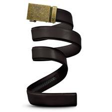 Mission Belt Wide Bronze Belt - Dark Brown - X-Large