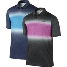Nike Men's TW Velocity Glow Stripe Polo Manufacturer Closeout