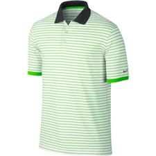 Green Golf Shirts Lime & Turquoise Golfballs #2: Nike Transition UV Stripe Polo WGA 225