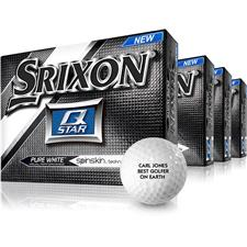 Srixon Q Star White Golf Balls - Buy 3 DZ Get 1 DZ Free