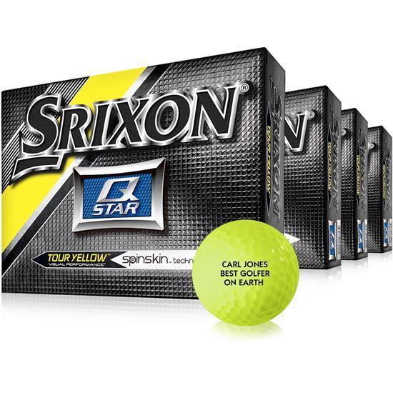 Srixon Q Star Yellow Golf Balls - Buy 3 DZ Get 1 DZ Free