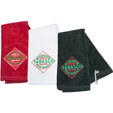 TABASCO Brand Diamond Label Design Golf Towel