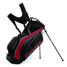 Taylor Made PureLite Personalized Stand Bag - Black-Charcoal-Red