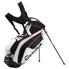 Taylor Made PureLite Personalized Stand Bag - White-Black-Red