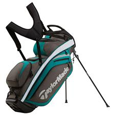 Taylor Made Supreme Hybrid Personalized Stand Bag - Gray-Dark Green