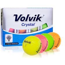Volvik Crystal 3-Piece Multi Color Golf Balls