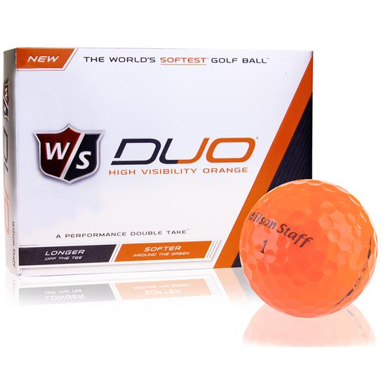 Wilson Staff Duo Orange Golf Balls