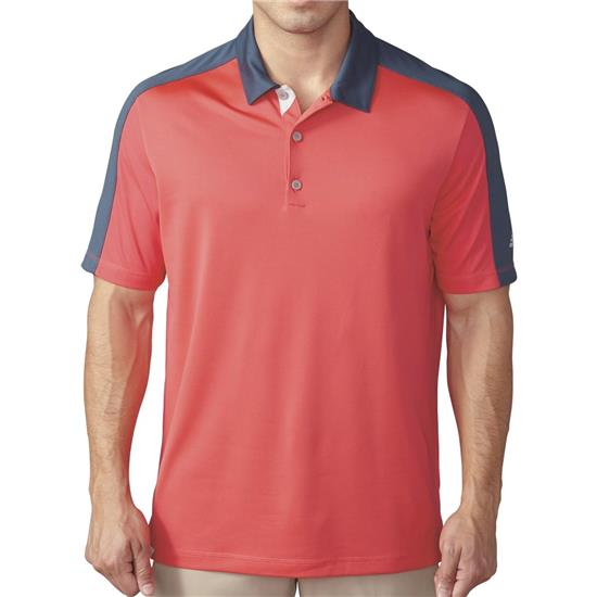 Adidas Men's ClimaCool Pique Geo Block Polo