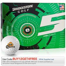 Bridgestone e5 Custom Logo Golf Balls