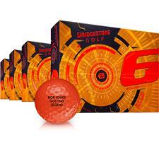 Bridgestone e6 Orange Golf Balls - Buy 3 DZ Get 1 DZ Free