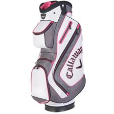 Callaway Golf Chev Personalized Cart Bag - White-Charcoal-Pink