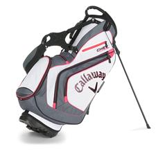 Callaway Golf Chev Personalized Stand Bag - White-Charcoal-Pink