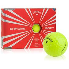 Callaway Golf Prior Generation Chrome Soft Yellow Custom Logo Golf Balls