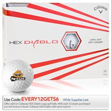 Callaway Golf HEX Diablo Express Logo Golf Balls