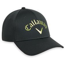 Callaway Golf Men's Liquid Metal Personalized Hat - Charcoal-Acid Green