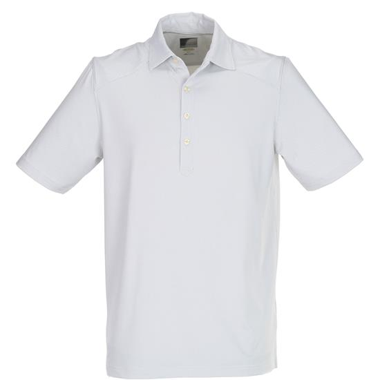 Greg Norman Men's Solid Weatherknit Polo