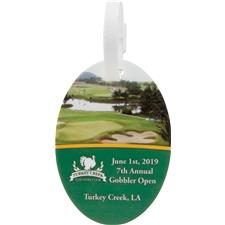Logo Golf Oval Bag Tags
