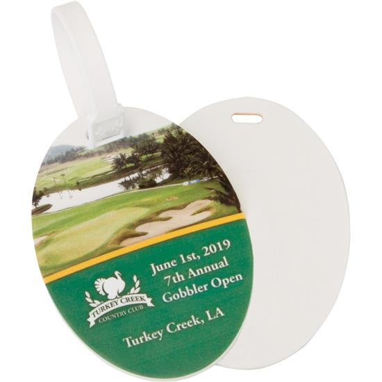Logo Golf Oval Bag Tags