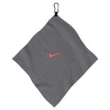 Nike 14x14 Microfiber Personalized Towel - Dark Grey-Bright Crimson