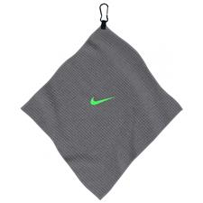 Nike 14x14 Microfiber Personalized Towel - Dark Grey-Voltage Green