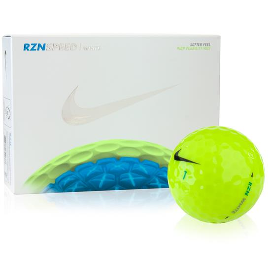 Nike RZN Speed White Volt Golf Balls