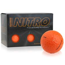 Nitro Maximum Distance Orange Golf Balls