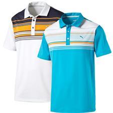 Puma Men's Short Sleeve Key Stripe Polo