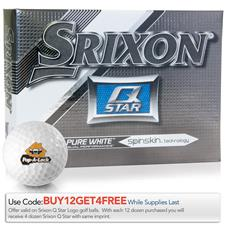 Srixon Custom Logo Q-Star Pure White Golf Balls