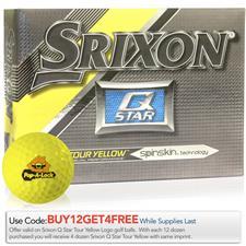 Srixon Q-Star Tour Yellow Custom Logo Golf Balls