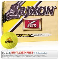 Srixon Custom Logo Z Star 4 Tour Yellow Golf Balls