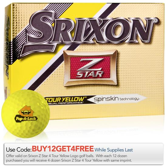 Srixon Z Star 4 Tour Yellow Golf Balls