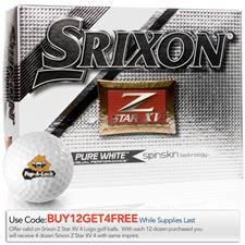 Srixon Custom Logo Z Star XV 4 Golf Balls