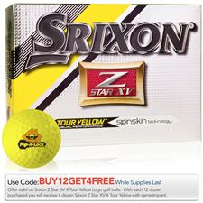 Srixon Custom Logo Z Star XV 4 Tour Yellow Golf Balls