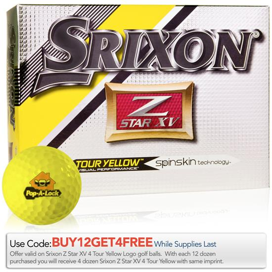 Srixon Z Star XV 4 Tour Yellow Golf Balls