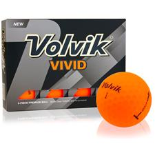 Volvik Crystal Vivid Matte Orange Golf Balls