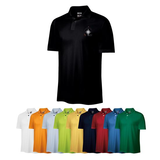 Adidas Men's ClimaLite Tech Custom Logo Golf Shirt