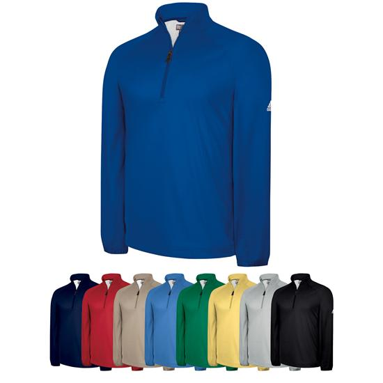 Adidas Men's Custom Logo Climaproof Half-Zip Wind Shirt