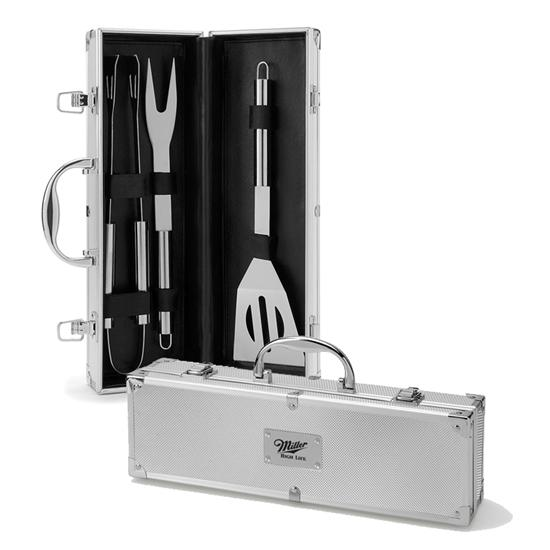 Logo 3 Piece Barbeque Set