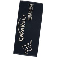 Logo Golf Custom Logo Jacquard Woven Players Towels