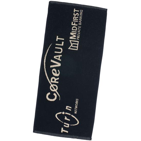Logo Golf Jacquard Woven Players Towels
