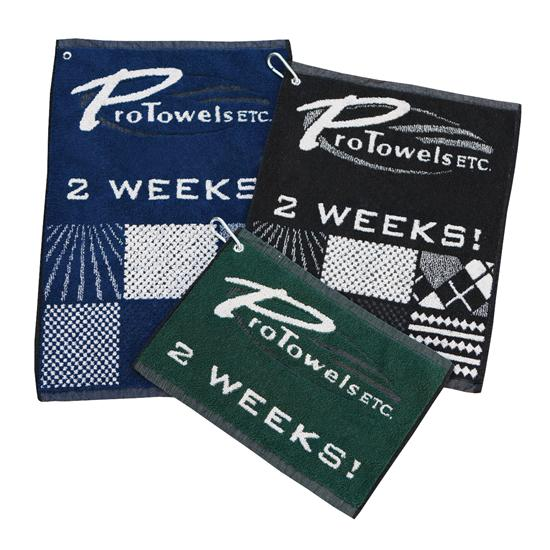 Logo Golf Jacquard Woven Quick Ship Towels