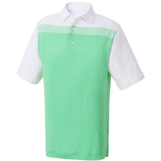 FootJoy Men's Birdseye Colorblock Pique Self Collar Polo
