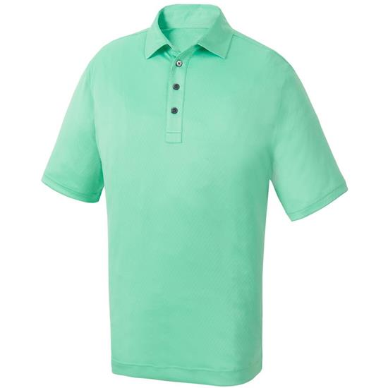 FootJoy Men's Diamond Textured Jacquard Self Collar Polo