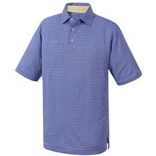 FootJoy Men's Jacquard Check Self Collar Polo