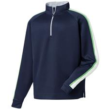 FootJoy Men's Sleeve Stripe Flat Back Rib 1/2 Zip Pullover