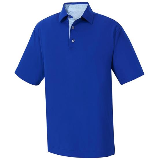 FootJoy Men's Stretch Lisle Solid Self Collar Polo